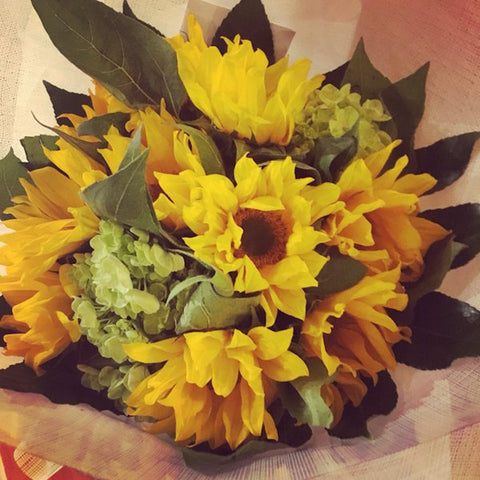 Sunshine Sunflower Hand-Tied Bouquet