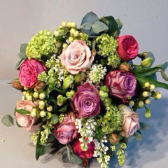 Spring Mixed Rose Hand-Tied Bouquet