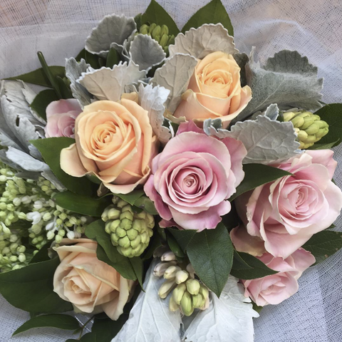 Soft Pastel Hand-Tied Bouquet