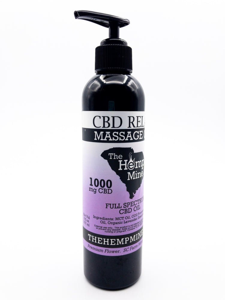The Hemp Mine CBD Relax Massage Oil 1000 mg 8 ounces