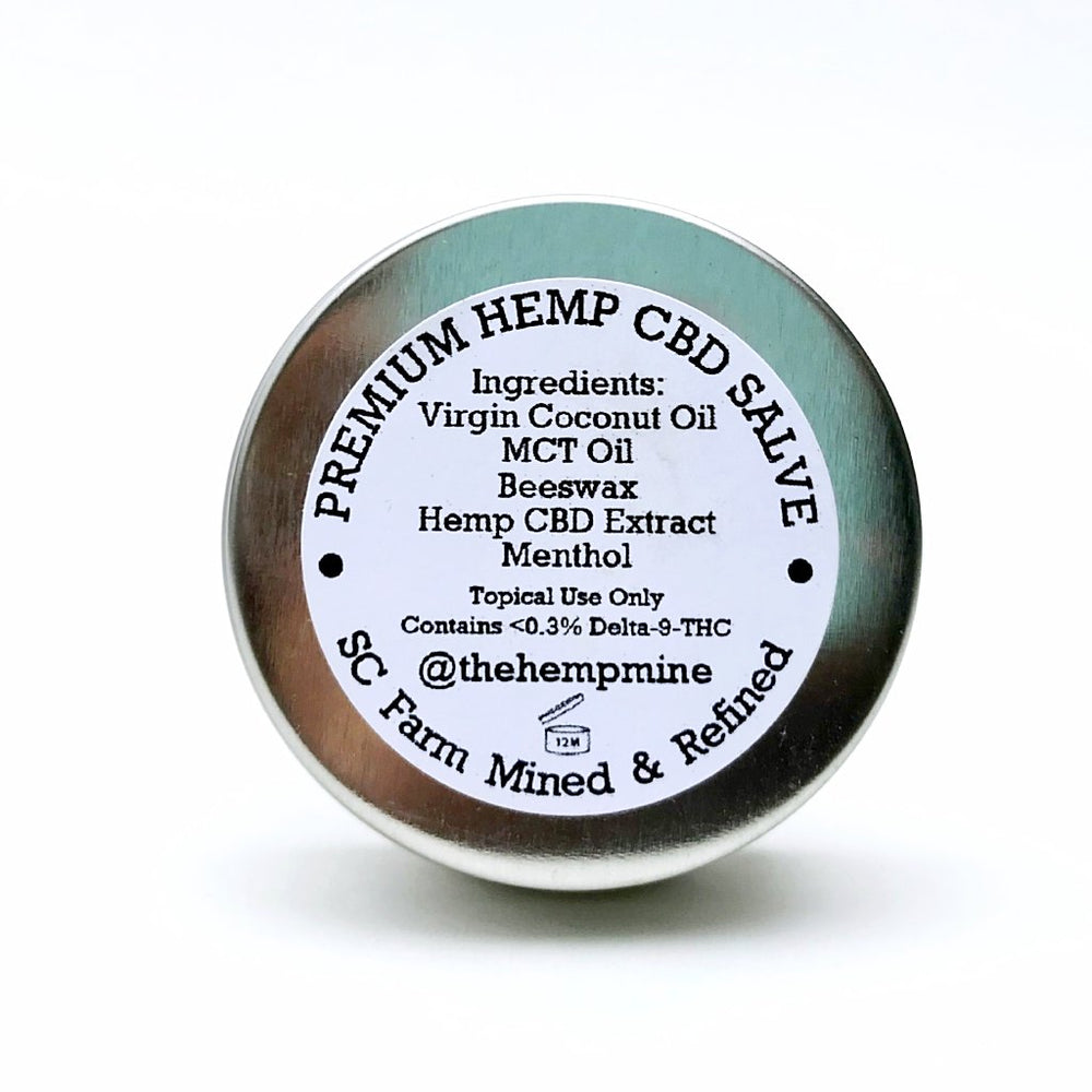 CBD salve topical menthol lavender hemp muscle moisturizing cannabinoid beeswax coconut oil