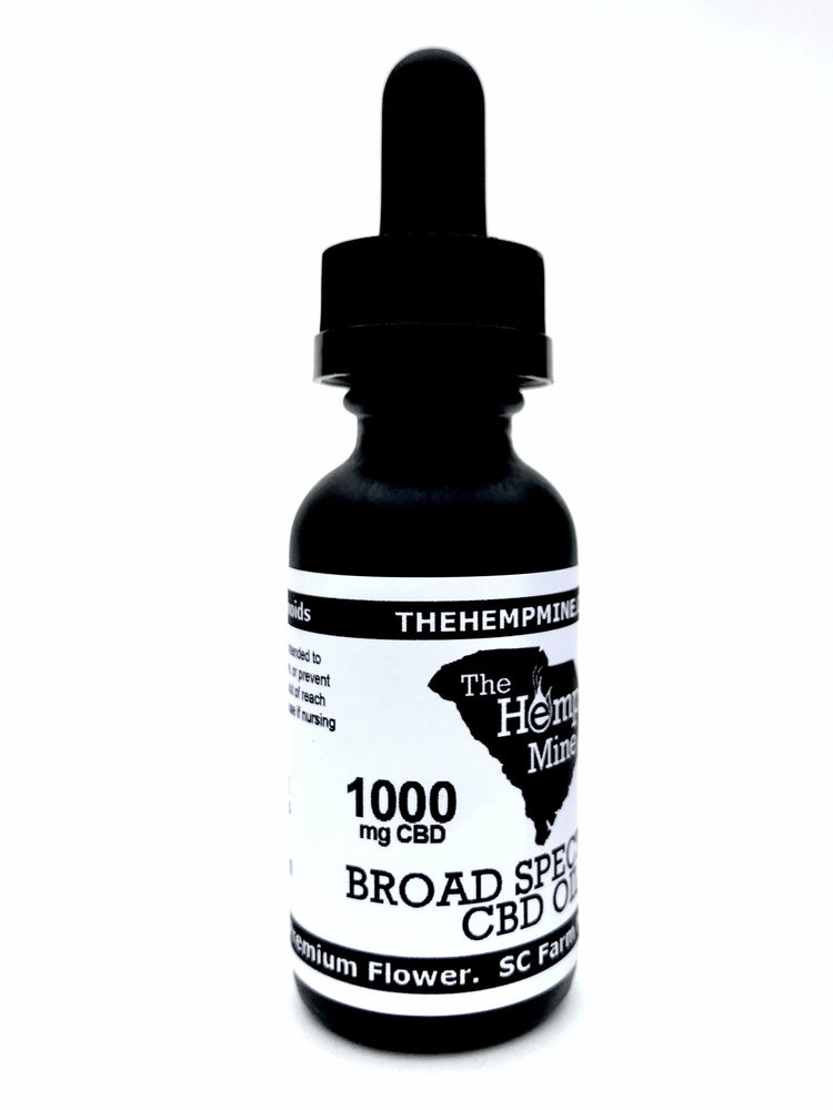 CBD oil 1000mg the hemp mine ND delta-9-THC