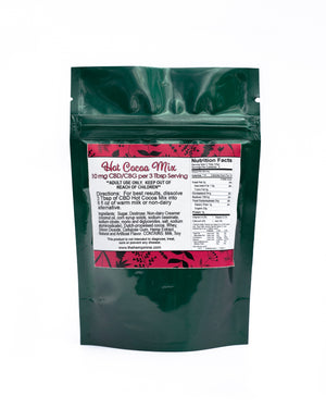 back of bag Spice of Life Hot Cocoa cbd cbg mix hemp