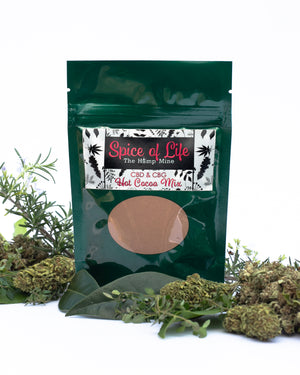 bag of Spice of Life Hot Cocoa cbd cbg mix hemp