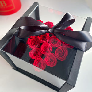 Preserved Love- Eternity Roses in Acrylic Box