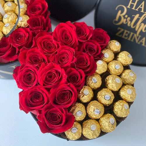 Large Roses and Ferrero Love