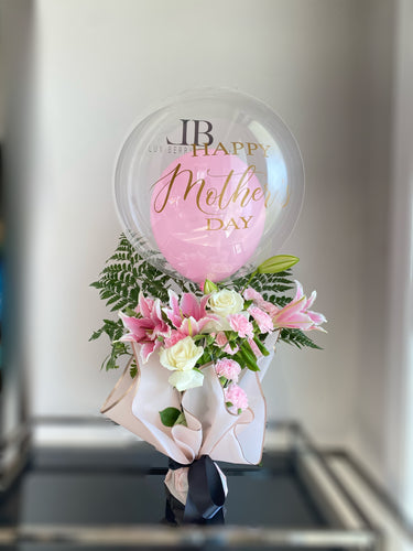 Mother's Day Flowers with large Balloon