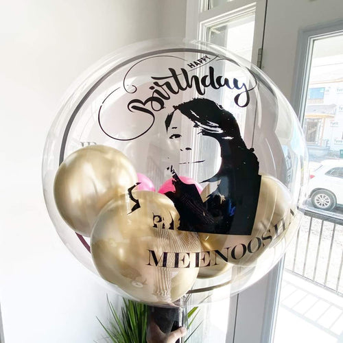 Large Clear Bubble Balloon with Personalized Image
