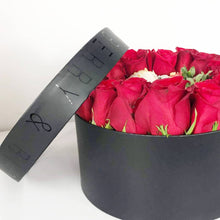 Load image into Gallery viewer, Roses and Berries Ring Box Red