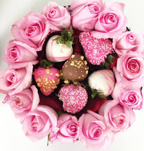 Load image into Gallery viewer, Roses and Berries Ring Box Pink
