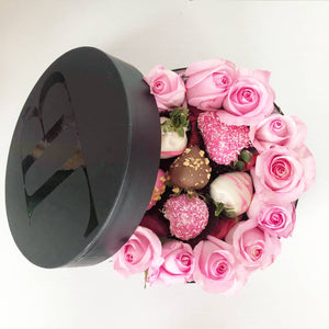Roses and Berries Ring Box Pink