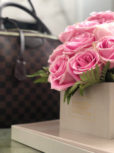 Pink Affair Roses - Signature Square Gift Box