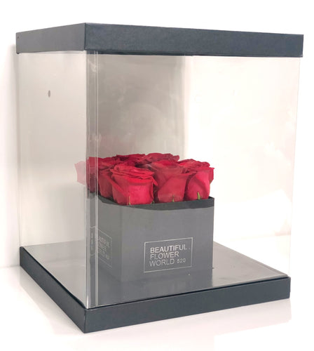 Red Roses Small - Signature Square Gift Box
