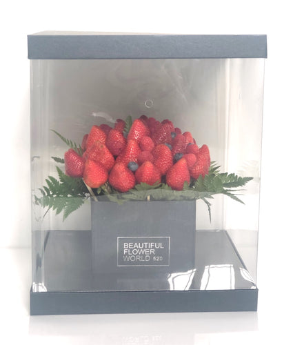 Berry Arrangement - Square Flower Box