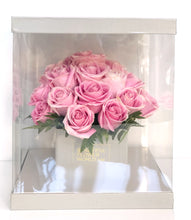 Load image into Gallery viewer, Pink Affair Roses - Signature Square Gift Box