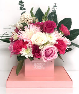 Cotton Candy - Signature Square Flower Box
