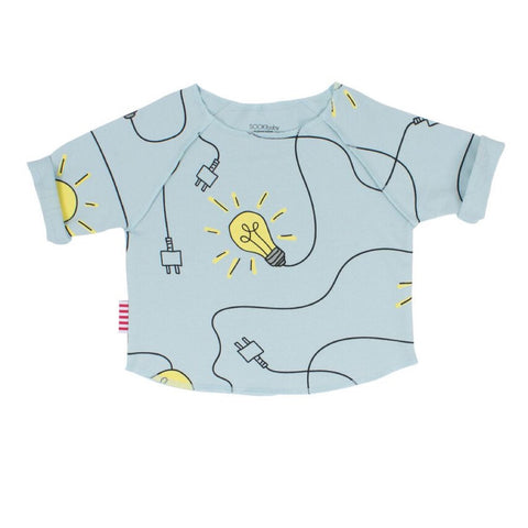 Sookibaby - Relaxed Raglan Sweat Lights On Blue
