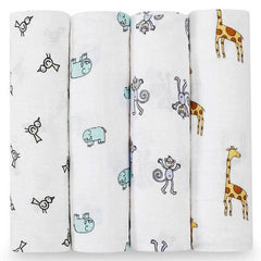 Aden and Anais | Classic Swaddles 4-pack Jungle Jam