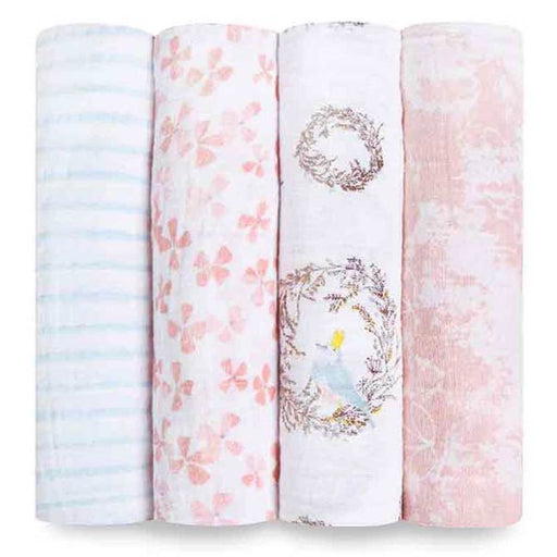 Aden and Anais - Classic Swaddles 4-pack Birdsong