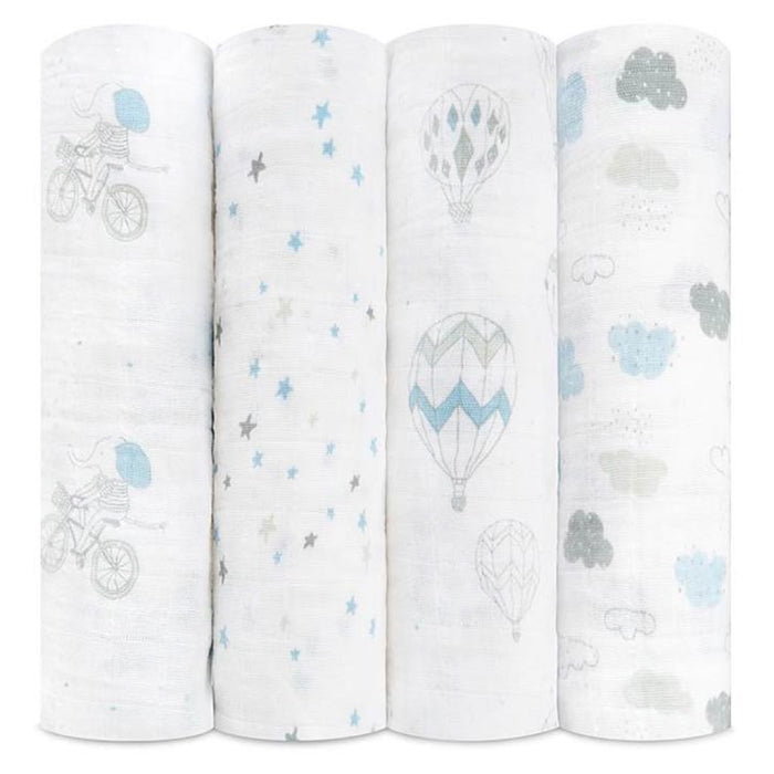 Aden and Anais - Classic Swaddles 4-pack Night Sky Reverie