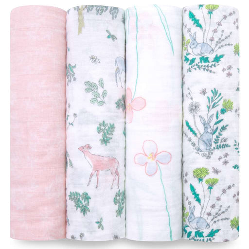 Aden and Anais Baby Classic Swaddles 4-pack Forest Fantasy