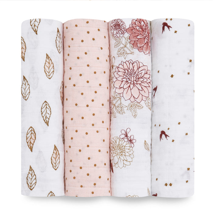 Aden and Anais | Classic Swaddles 4-pack Dahlias