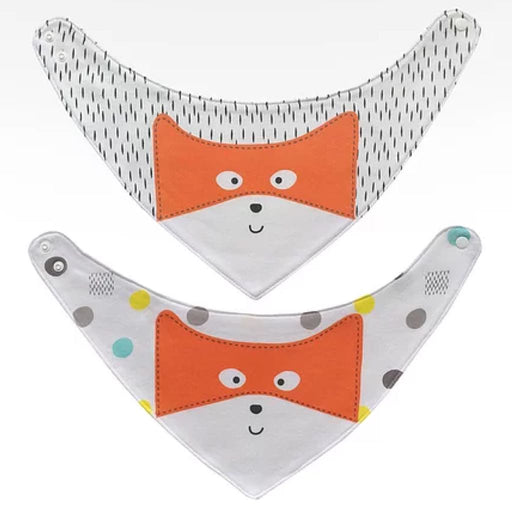 Plum - Bandana Dribble Bibs 2PK Fox