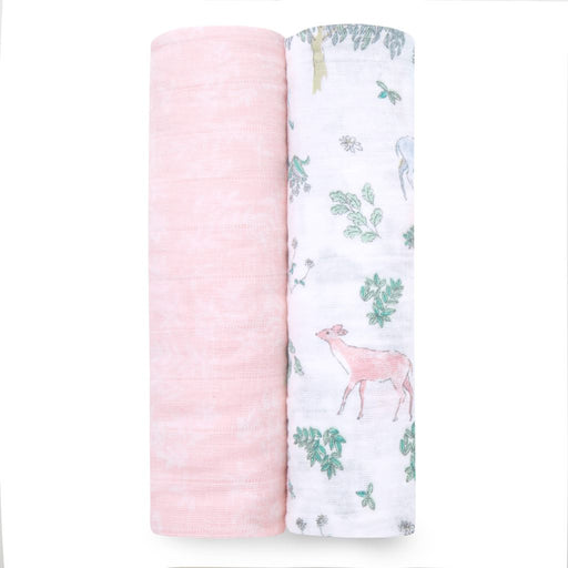 Aden and Anais  Classic Swaddles 2-pack Forest Fantasy