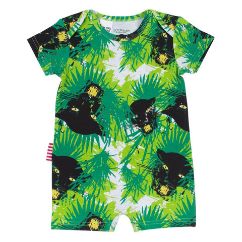 Sookibaby - Playsuit Short Sleeve Envelope Neck Wild