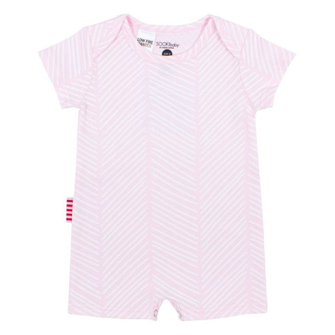 Sookibaby - Playsuit Envelope Neck Chevron Light Pink