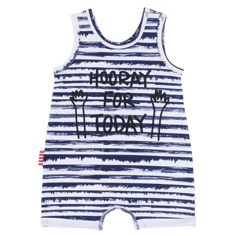 Sookibaby - Romper All in One Hooray for Today Fun Blue