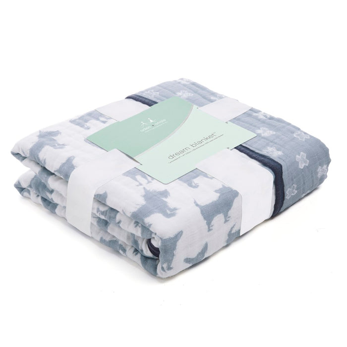 Aden and Anais  Classic Dream Blanket Waverly Pup