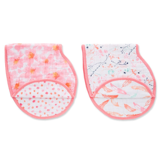 Aden and Anais - Classic Burpy Bibs 2-pack Petal Blooms