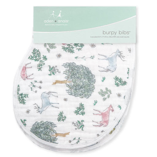Aden and Anais - Classic Burpy Bibs 2-pack Forest Fantasy