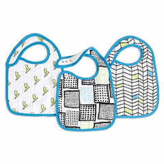 Aden and Anais | Classic Snap Bibs 3-pack Whiz Kid