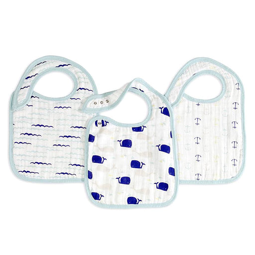 Aden and Anais - Classic Snap Bibs 3-pack High Seas