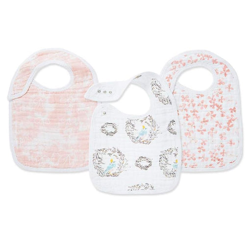 Aden and Anais - Classic Snap Bibs 3-pack Birdsong