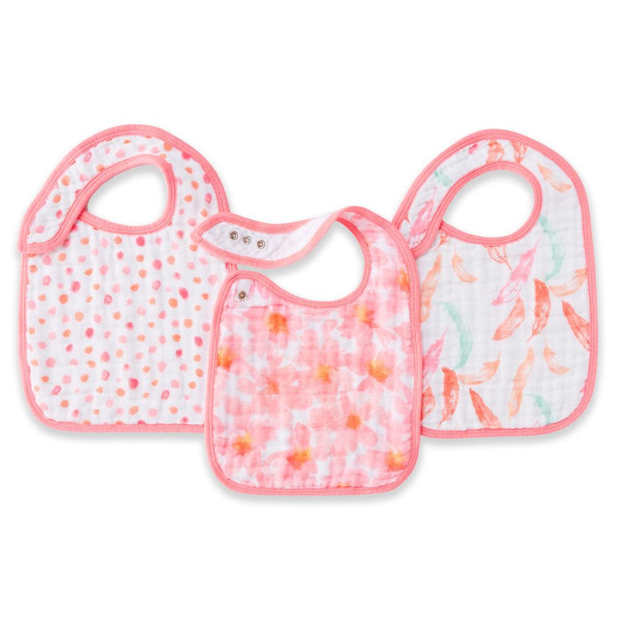 Aden and Anais - Classic Snap Bibs 3-pack Petal Bloom