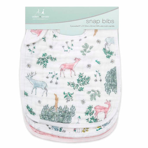 Aden and Anais - Classic Snap Bibs 3-pack Forest Fantasy
