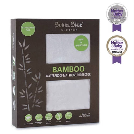 Bubba Blue - Bamboo Waterproof Mattress Protector Standard Cot