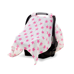 Aden and Anais | Classic Car Seat Canopy Fluro Pink