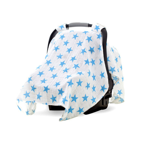 Aden and Anais | Classic Car Seat Canopy Fluro Blue