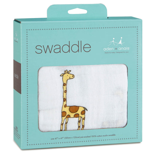 Aden and Anais - Classic Swaddle 1-pack Jungle Jam Giraffe