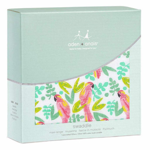 Aden and Anais Classic Swaddle 1-pack Birds of Paradise