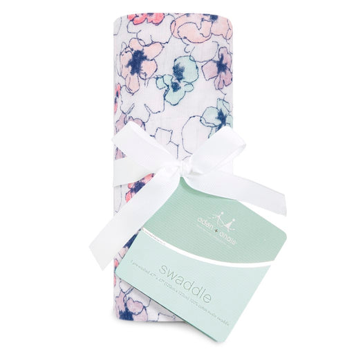 Aden and Anais Classic Swaddle 1-pack Trail Blooms