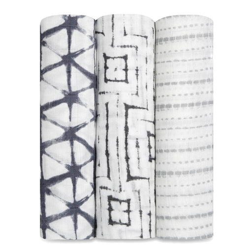 Aden and Anais | Bamboo Silky Soft Swaddles 3-pack Shibori Pebble