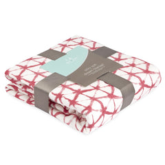 Aden and Anais - Silky Soft Bamboo Dream Blanket Berry Shibori