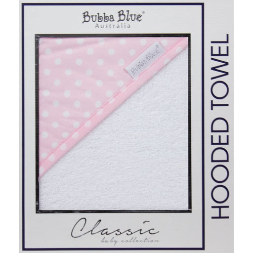 Bubba Blue  - Hooded Towel Polka Dots Pink