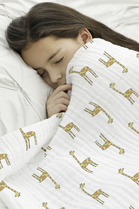 Aden and Anais - Classic Dream Blanket Jungle Jam Giraffe + White