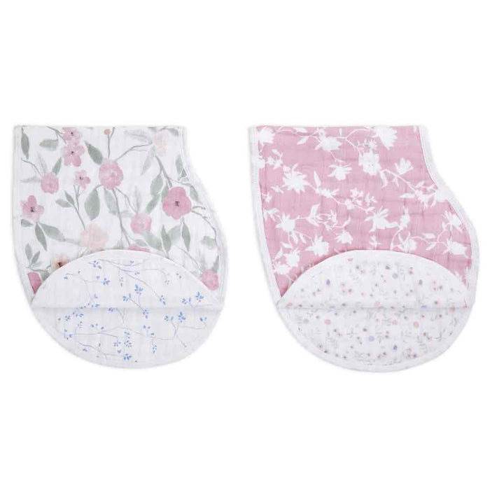Aden and Anais Classic Burpy Bibs 2-pack Ma Fleur